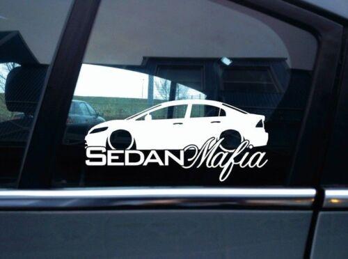 FD sedan 8th Gen Lowered SEDAN MAFIA car sticker for Honda Civic FA