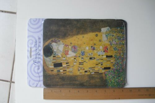 """/""""THE KISS/"""" by Gustav Klimpt 7 3//4/""""x 9 1//4/"""" MOUSEPAD By POMEGRANATE  Brand New"""