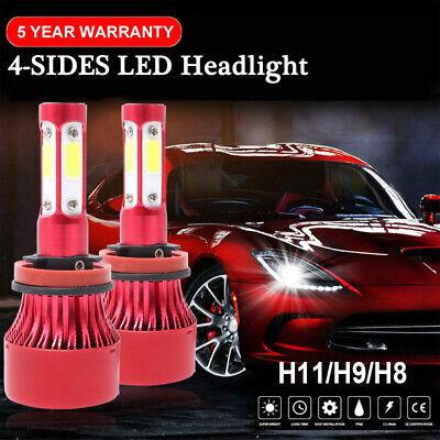 2x H11 LED Headlight Bulbs Conversion Kit High Low Beam Fog Lamp 72W 6000K White