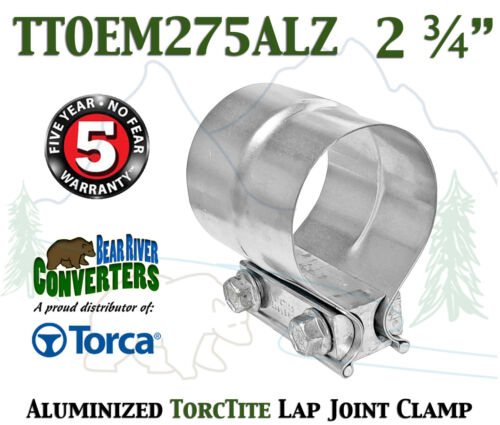 "TTOEM275ALZ 2.75/"" 2 3//4/"" Torca Torctite Aluminized Steel Lap Joint Band Clamp"