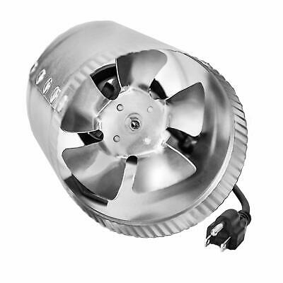 8 Low Noise iPower GLFANXBOOSTER8 8 Inch 420 CFM Booster Fan Inline Duct Vent Blower for HVAC Exhaust and Intake 5.5 Grounded Power Cord