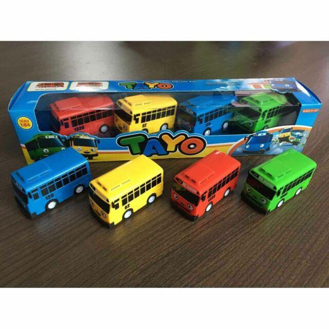 4X Cars Toy The Little Bus TAYO Friends Mini Special Set Tayo Rogi Gani Rani US