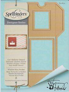 Spellbinders Shapeabilities cela Window Mini Pocket Enveloppe/Sac s4-630  </span>