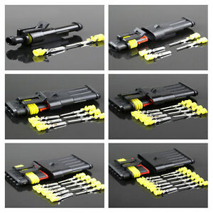 5 Kits 1-6Pin Way Sealed Waterproof Electrical Wire Connector Plug Car Auto SeHK