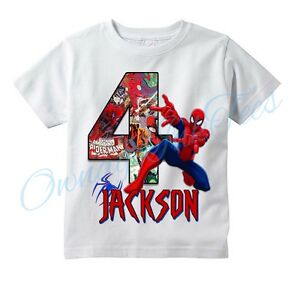 spiderman comic superhero custom t shirt personalize birthday choose