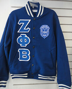 Details about Zeta Phi Beta American Apparel Heavy Terry Varsity Style SweaterJacket