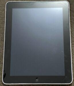 Apple iPad 1st Gen. 16GB, Wi-Fi, 9.7in - Silver **DEAD BATTERY** Use parts