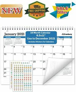Small Wall Calendar 2020-2021 (Blue), Monthly Calendar for ...