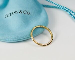 bd754125e NEW Tiffany & Co.18K Yellow Gold Hammered Ring by Paloma Picasso ...