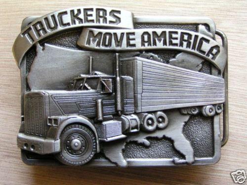 Luxus Belt Buckle *Truckers Move America* ©SISKIYOU USA Gürtelschnalle Neu