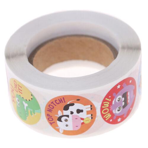 500PCs Kids Reward Stickers Encouragement Sticker Roll for Students Teachers