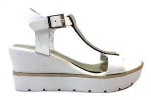 Pregunta-Mujer-IG9266B-002-Blanco-e-Gris-pardo-Sandalias-Zapatos-De-Mujer