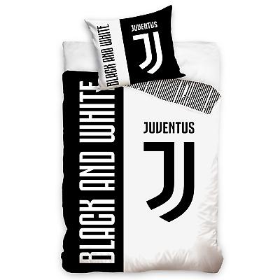 Official Juventus Football Club Black And White Mono Single Duvet Bedding Set
