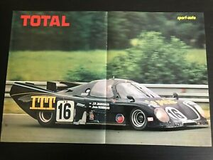 JAUSSAUD-RONDEAU-24-H-DU-MANS-RACE-POSTER-FROM-FRENCH-MAGAZINE-AFFICHE-M12