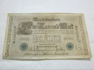 ORIGINAL-1000-MARK-1910-GERMAN-BANKNOTE