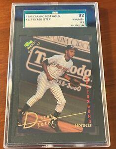 Derek Jeter 1993 Classic Best Gold #115 Yankees Rookie HOF SGC 8.5