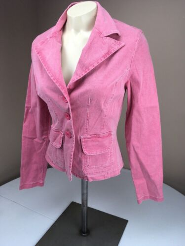 90s Pink Distressed Authentic Made 3 Red Button Blazer Usa Guess Xs Jacket Vtg Fw61dF