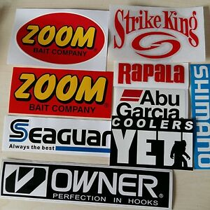 LOT-of-9-Fishing-Decals-Fishing-Stickers-for-Brand-Lovers