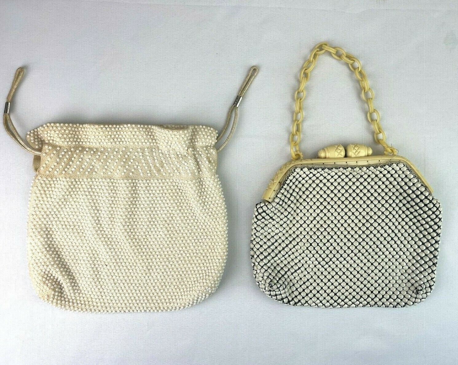 Mid Century Vintage Alumesh Whiting & Davis Handbags Mesh Beaded Bakelite Mod