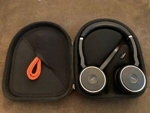 Jabra Evolve 75 Uc Wireless Headset With Base Stereo Ebay