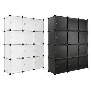 Steckregal Mit Türen Schrank Regal Kunststoff Kleiderschrank