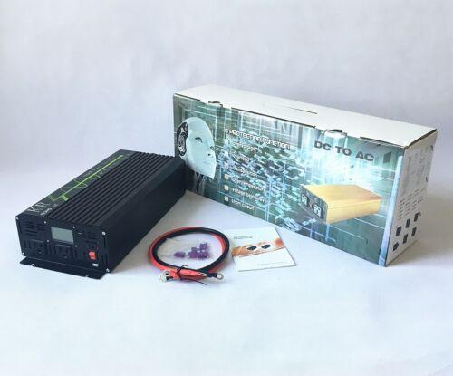 Power Inverter 1500W Off Grid Pure Sine Wave 12V//24V to 120V 60HZ USB US Stock