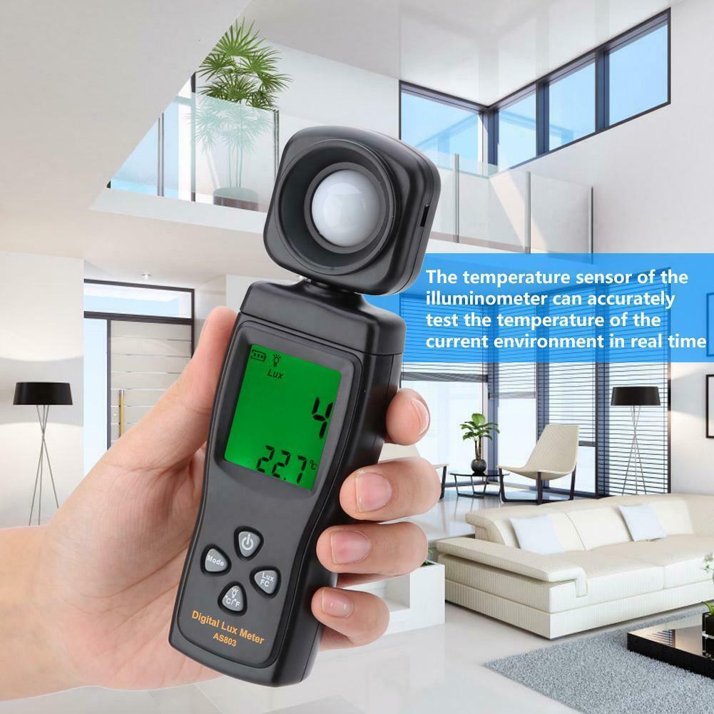Smart Sensor Digital Luxmeter LCD Display Environmental Testing Illuminometer Light Meter