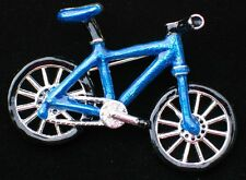 SUMMER FUN TRAIL RIDING TIRE PEDAL CYCLE BLUE BICYCLE BIKE PIN BROOCH JEWELRY
