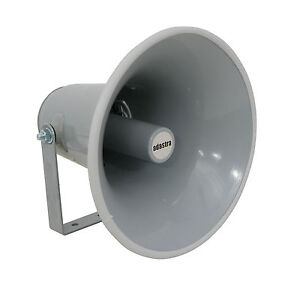 QTY-2-PAIR-40W-8OHM-ALUMINIUM-HORN-MEGAPHONE-SPEAKER-WITH-MOUNT-CABLE