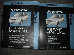2004 toyota rav4 rav 4 service shop repair manual set oem 04 brand rh ebay com 2004 toyota rav4 manual transmission fluid 2004 toyota rav4 manual for sale