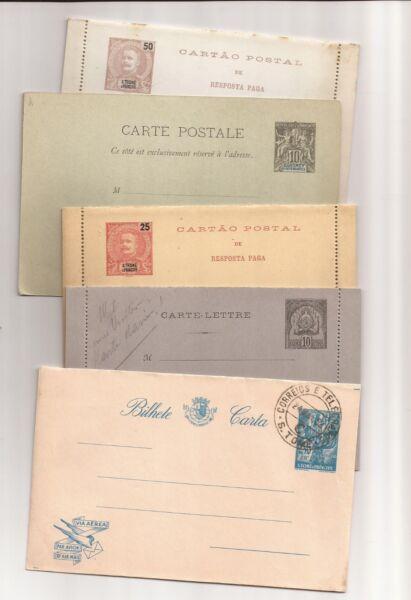Afrique - 9 Older Inutilisés/utilisé Français/portugais Postal Cards-ese Postal Cards