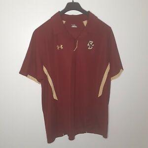 Under Armour Heatgear Boston College Eagles NCAA Maroon Golf Polo Shirt Size XL