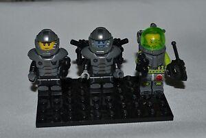 LEGO SPACE PIRATES SET OF THREE MINI FIGURES FREE SHIPPING