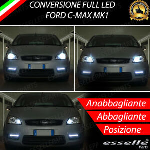 CONVERSIONE FARI FULL LED FORD C-MAX C MAX MK1 6000K LED CANBUS