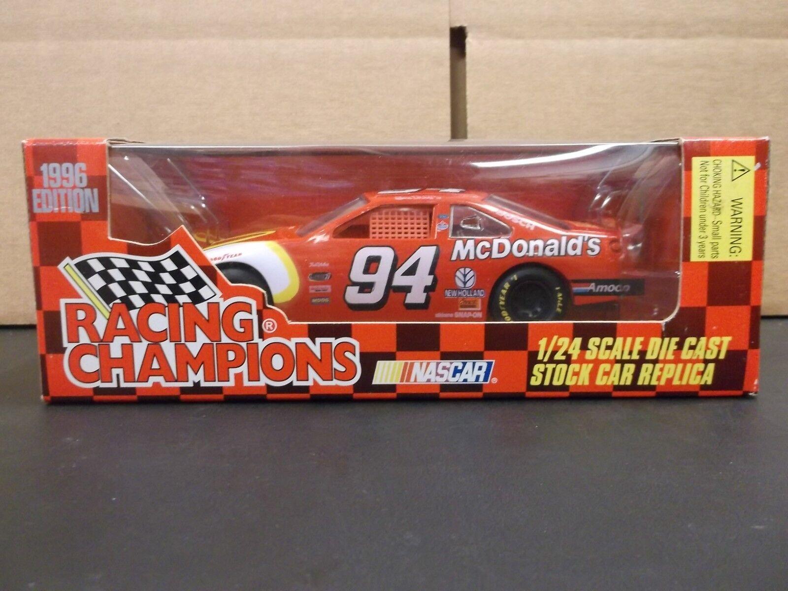 Racing Champions 1996 Edition NASCAR Bill Elliott McDonald's Ford 1 24 Scale