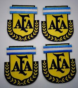 Argentina-Nacional-Futbol-Equipo-Afa-Parche-Sew-sobre-Conjunto-de-4-Parches