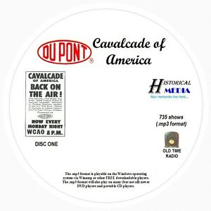 CAVALCADE-OF-AMERICA-735-Shows-Old-Time-Radio-In-MP3-Format-OTR-On-8-CDs