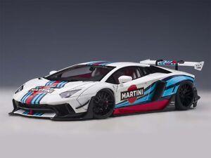 Lamborghini Liberty Walk LB-Works  Aventador | Martini Livery | AUTOART | 1:18