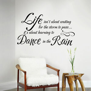 Life-Isn-039-t-About-Waiting-Wall-Decal-Inspirational-Saying-Room-Vinyl-Mural-Decor