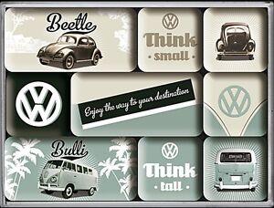 VOLKSWAGEN-VW-altezza-amp-PICCOLO-SET-DI-9-MINI-CALAMITE-FRIGO-NA