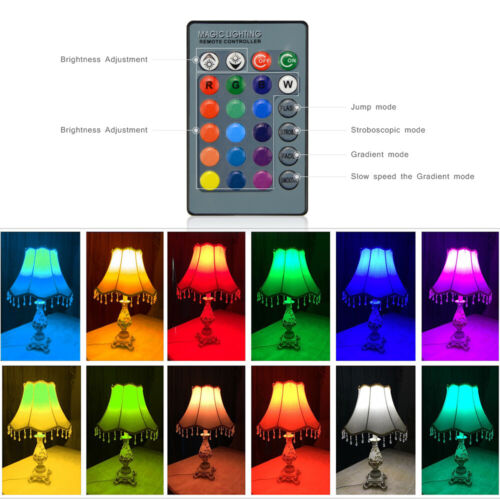 Remote Control E27 E14 GU10 RGB LED Bulb Lamp Light Dimmable 16 Color Changing