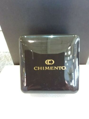 Authentic Chimento Large Black Glossy Bracelet Bangle Pillow Jewelry Boxes-NEW