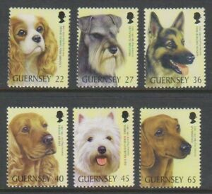 Guernesey-2001-Guernesey-Chien-Club-Ensemble-MNH-Sg-895-900