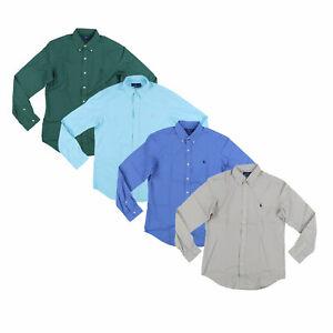 Ralph-Lauren-Mens-Long-Sleeve-Shirt-Buttondown-Classic-Fit-New-Nwt-M-L-Xl-Xxl