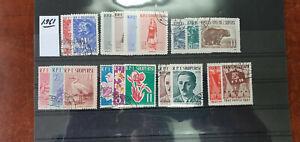 ALBANIA-1-961-ANO-COMPLETO-USADOS-O-NUEVOS-MATASELLADOS