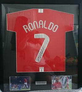 Framed Cristiano Ronaldo Manchester United Signed Shirt 2008 Champions League