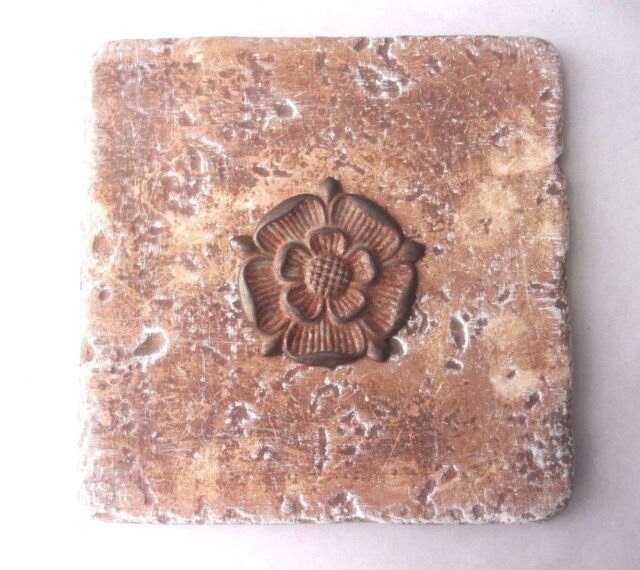 "plaster cement  plastic flower travertine tile mold 6/"" x 6/"" x 1//3/"" thick"