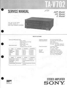Sony Original Service Manual Für Ta-v702 100% Garantie Tv, Video & Audio