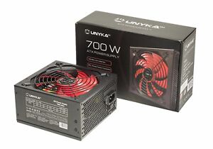 Fuente-de-alimentacion-PC-ATX-700W-negra-Ventilador-140mm-rojo