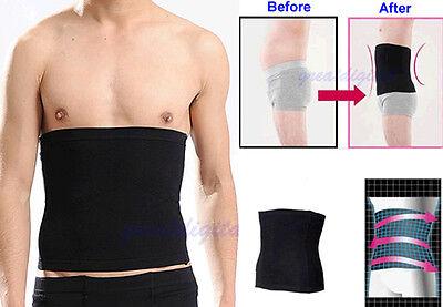 Mens Male New Slimming Lift Body Shaper Tummy Belt Underwear Waist Support Black